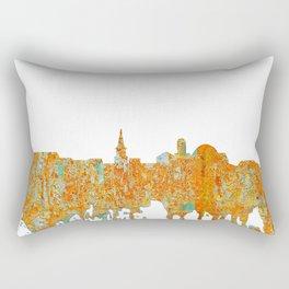 Alexandria, Virginia Skyline - Rust Rectangular Pillow