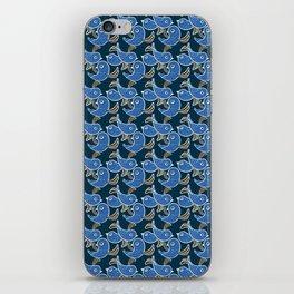 Birds - Royalblue iPhone Skin