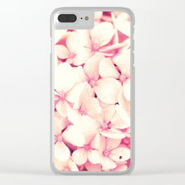 Rose Pink Flowers (Hydrangea) Clear iPhone Case