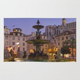 Rossio fountain, Lisbon Rug