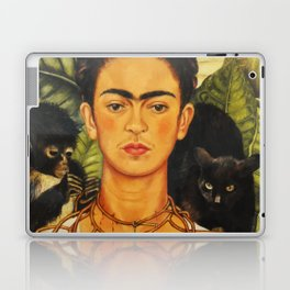 Frida Kahlo Self-Portrait Thorn Necklace and Hummingbird Laptop & iPad Skin
