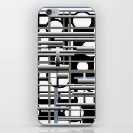 Black white and grey iPhone Skin