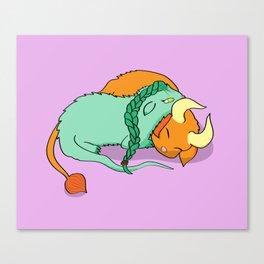 Dinku and Furret Canvas Print