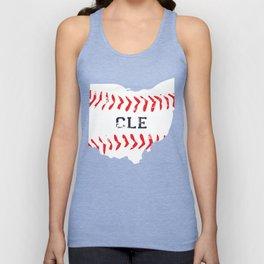 Distressed Cleveland Baseball Shirt Cleveland Ohio Unisex Tank Top
