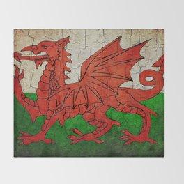 Vintage Wales flag Throw Blanket