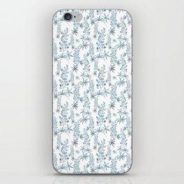 Winter patterns in blue. iPhone Skin