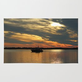 Sunset Over The Water Rug