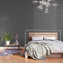 Monochrome centipede arabesque Wallpaper