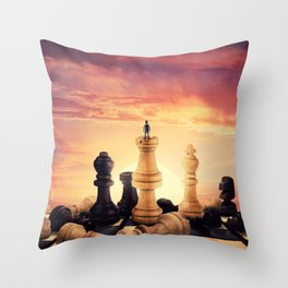 the rise of a chess player Throw Pillow