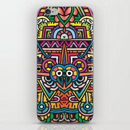 bilateral symmetry doodle colorful iPhone Skin