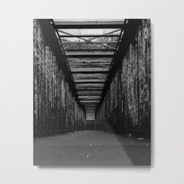 Graffiti City (Black and White) Metal Print