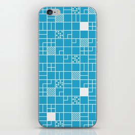 Inverted Boxes Blue iPhone Skin