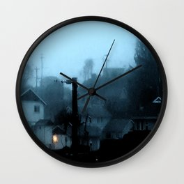 Strange Night: Ghost Light Wall Clock