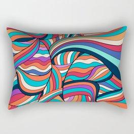 African Style No24, Sahara echoes Rectangular Pillow