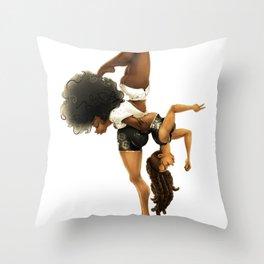 Yoga & Yogi Throw Pillow