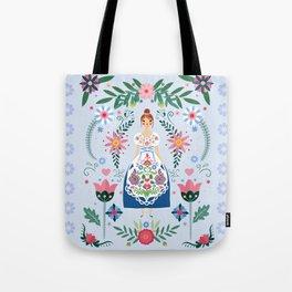 Fairy Tale Folk Art Garden Tote Bag
