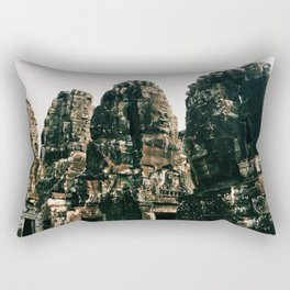 TRANSCENDENCE // The Bayon, Siem Reap, Cambodia Rectangular Pillow