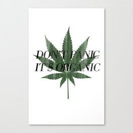 Don't Panic It's Organic Vintage Cannabis Print Canvas Print