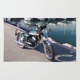 Classic Two Stroke Motorcycle Rug