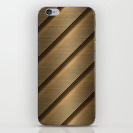 Copper Brass Metal Pipe iPhone Skin