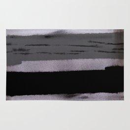Dark shadow abstract painting Rug