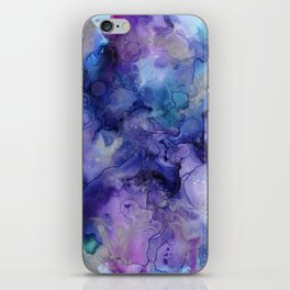 Abstract Watercolor Coastal, Indigo, Blue, Purple iPhone Skin