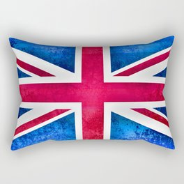 Grunge British Flag Rectangular Pillow