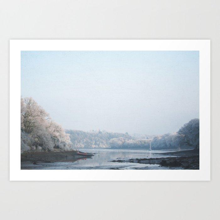 Frozen landscape Art Print