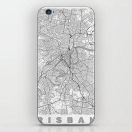 Brisbane Map Line iPhone Skin