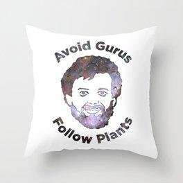 Terence Mckenna - Avoid Gurus, Follow Plants (Universe) Throw Pillow