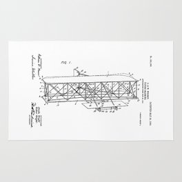 Wright Brothers Patent: Flying Machine Rug