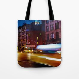 Taxi's Whizzing By Tote Bag