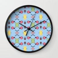 bugs Wall Clocks featuring Bugs by Lena Photo Art