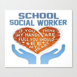 School Social Worker Canvas Print