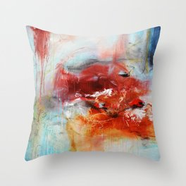 Abstract Digital Art from Original Painting Throw Pillow