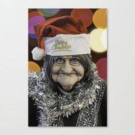 Christmas Grandma Bokeh Canvas Print