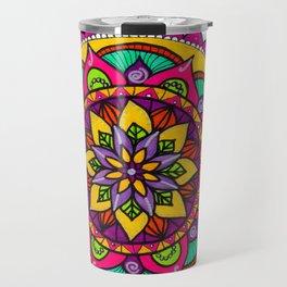 Mandala flores Travel Mug