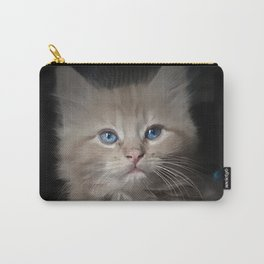 Blue Eyed Kitten Carry-All Pouch
