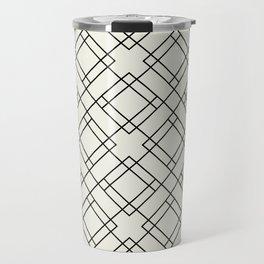Simply Mod Diamond Black and Cream Travel Mug
