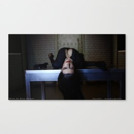 Catwoman : Selina Kyle on table Canvas Print