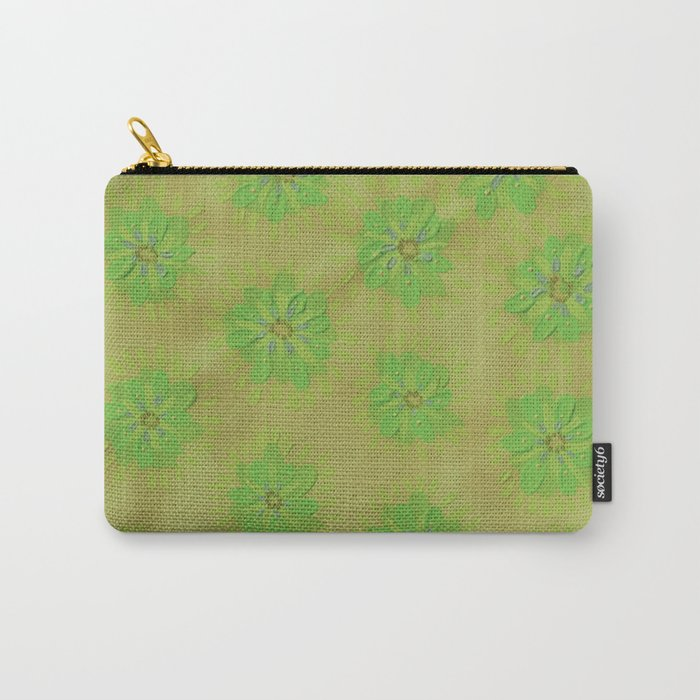 Olive Petal Rose Carry-All Pouch
