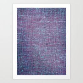purple weave Art Print