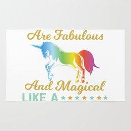 Fun Kindergarten Teacher Gift Fabulous Magical Unicorn Rug