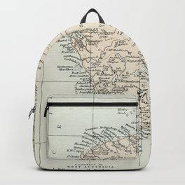 Vintage Map of the West Of Australia Backpack