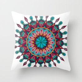 Heart and Soul Mandala Throw Pillow