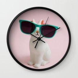 Sunglasses bunny Wall Clock