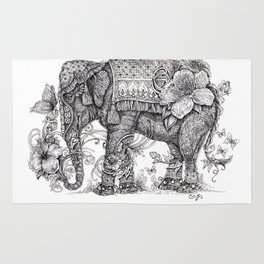 """Anesh the Creative Elephant"" Rug"