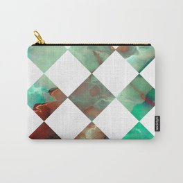 MARBLED ONYX & GEOMETRIC I Carry-All Pouch