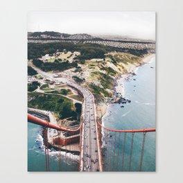 "Golden Gate Bridge San Francisco: ""I rise above"" Canvas Print"
