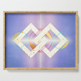 Linked Lilac Diamonds :: Floating Geometry Serving Tray
